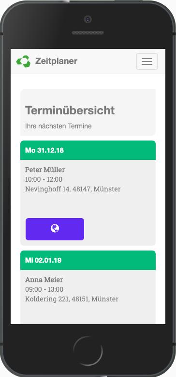 App Terminübersicht